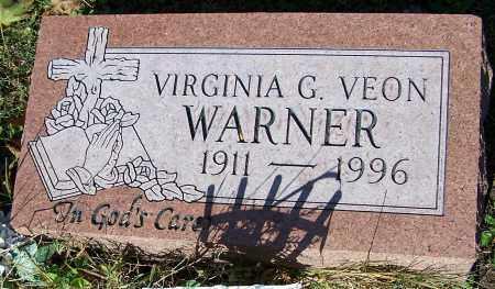 WARNER, VIRGINIA G.VEON - Stark County, Ohio | VIRGINIA G.VEON WARNER - Ohio Gravestone Photos