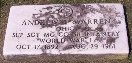 WARREN, ANDREW T. - Stark County, Ohio | ANDREW T. WARREN - Ohio Gravestone Photos