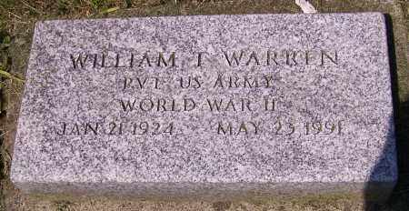 WARREN, WILLIAM T. - Stark County, Ohio | WILLIAM T. WARREN - Ohio Gravestone Photos