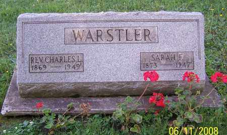 WARSTLER, CHARLES L. (REV) - Stark County, Ohio | CHARLES L. (REV) WARSTLER - Ohio Gravestone Photos