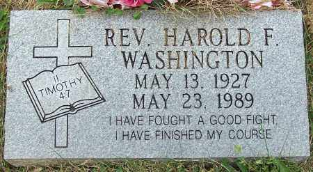 WASHINGTON, REV. HAROLD F. - Stark County, Ohio | REV. HAROLD F. WASHINGTON - Ohio Gravestone Photos