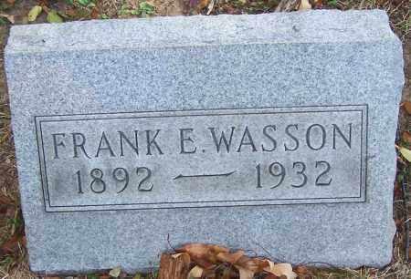 WASSON, FRANK E. - Stark County, Ohio | FRANK E. WASSON - Ohio Gravestone Photos