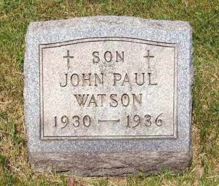 WATSON, JOHN PAUL - Stark County, Ohio | JOHN PAUL WATSON - Ohio Gravestone Photos