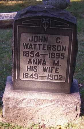 WATTERSON, ANNA M. - Stark County, Ohio | ANNA M. WATTERSON - Ohio Gravestone Photos