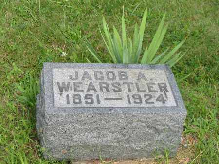 WEARSTLER, JACOB A - Stark County, Ohio | JACOB A WEARSTLER - Ohio Gravestone Photos