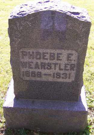 WEARSTLER, PHOEBE E. - Stark County, Ohio | PHOEBE E. WEARSTLER - Ohio Gravestone Photos