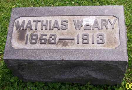 WEARY, MATHIAS - Stark County, Ohio | MATHIAS WEARY - Ohio Gravestone Photos