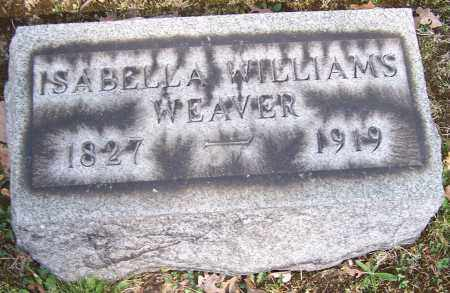 WEAVER, ISABELLA WILLIAMS - Stark County, Ohio | ISABELLA WILLIAMS WEAVER - Ohio Gravestone Photos