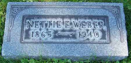 WEBER, NETTIE E. - Stark County, Ohio | NETTIE E. WEBER - Ohio Gravestone Photos