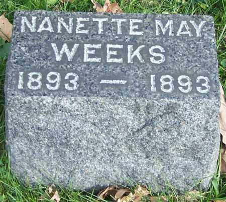 WEEKS, NANETTE MAY - Stark County, Ohio | NANETTE MAY WEEKS - Ohio Gravestone Photos