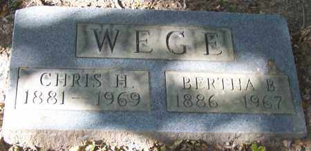 WEGE, CHRIS H. - Stark County, Ohio | CHRIS H. WEGE - Ohio Gravestone Photos