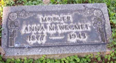 WEGMET, ANNA M. - Stark County, Ohio | ANNA M. WEGMET - Ohio Gravestone Photos