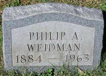 WEIDMAN, PHILIP A. - Stark County, Ohio | PHILIP A. WEIDMAN - Ohio Gravestone Photos