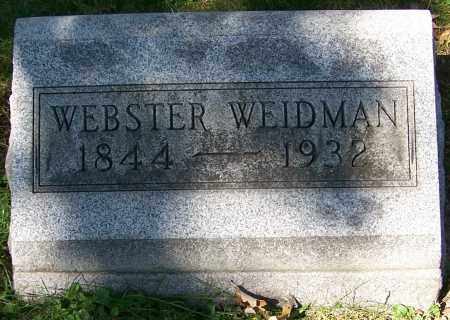 WEIDMAN, WEBSTER - Stark County, Ohio | WEBSTER WEIDMAN - Ohio Gravestone Photos
