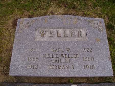 WELLER CAILLET, NELLIE - Stark County, Ohio | NELLIE WELLER CAILLET - Ohio Gravestone Photos
