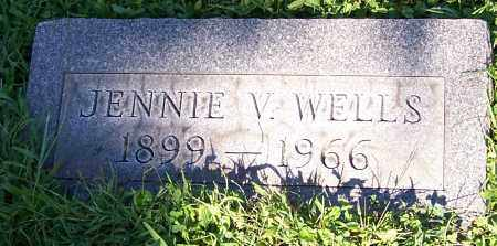 WELLS, JENNIE V. - Stark County, Ohio | JENNIE V. WELLS - Ohio Gravestone Photos