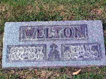 WELTON, EVALINA - Stark County, Ohio | EVALINA WELTON - Ohio Gravestone Photos