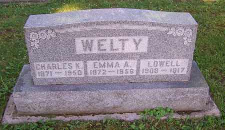 WELTY, EMMA A. - Stark County, Ohio | EMMA A. WELTY - Ohio Gravestone Photos