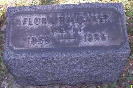 WELTY, FLORA BRUBAKER - Stark County, Ohio | FLORA BRUBAKER WELTY - Ohio Gravestone Photos
