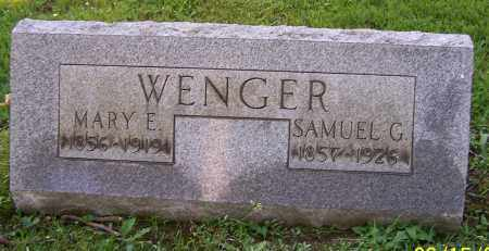 WENGER, MARY E. - Stark County, Ohio | MARY E. WENGER - Ohio Gravestone Photos