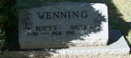 WENNING, ANOLA B. - Stark County, Ohio | ANOLA B. WENNING - Ohio Gravestone Photos