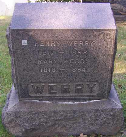 WERRY, MARY - Stark County, Ohio | MARY WERRY - Ohio Gravestone Photos