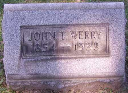 WERRY, JOHN T. - Stark County, Ohio | JOHN T. WERRY - Ohio Gravestone Photos
