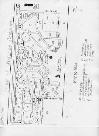 WESTLAWN, MAP - Stark County, Ohio   MAP WESTLAWN - Ohio Gravestone Photos