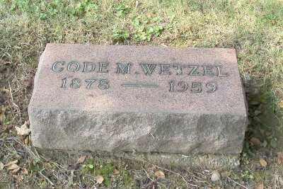 WETZEL, CODE M. - Stark County, Ohio | CODE M. WETZEL - Ohio Gravestone Photos