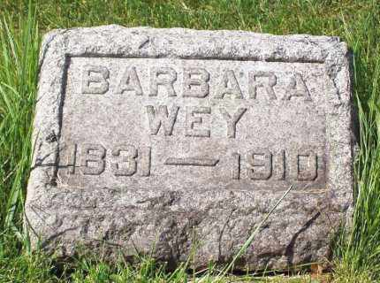 WEY, BARBARA - Stark County, Ohio | BARBARA WEY - Ohio Gravestone Photos