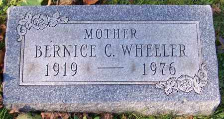 WHEELER, BERNICE C. - Stark County, Ohio | BERNICE C. WHEELER - Ohio Gravestone Photos