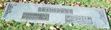 WHIPPLE, ANNA M. - Stark County, Ohio | ANNA M. WHIPPLE - Ohio Gravestone Photos