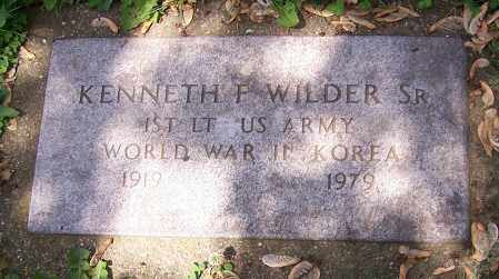 WILDER, KENNETH F. (SR)  (MIL) - Stark County, Ohio | KENNETH F. (SR)  (MIL) WILDER - Ohio Gravestone Photos