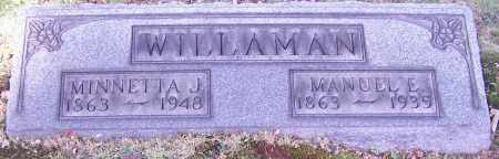 WILLAMAN, MANUEL E. - Stark County, Ohio | MANUEL E. WILLAMAN - Ohio Gravestone Photos