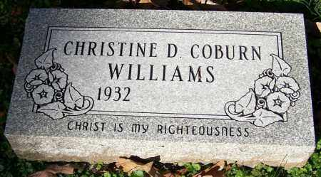 WILLIAMS, CHRISTINE D. COBURN - Stark County, Ohio | CHRISTINE D. COBURN WILLIAMS - Ohio Gravestone Photos