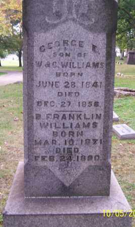 WILLIAMS, B.FRANKLIN - Stark County, Ohio | B.FRANKLIN WILLIAMS - Ohio Gravestone Photos