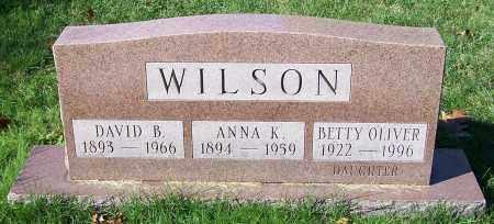WILSON, ANNA K. - Stark County, Ohio | ANNA K. WILSON - Ohio Gravestone Photos