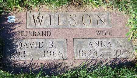 WILSON, DAVID B. - Stark County, Ohio | DAVID B. WILSON - Ohio Gravestone Photos