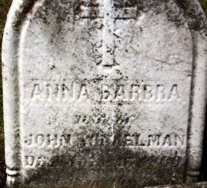 WINKELMAN, ANNA BARBRA - Stark County, Ohio | ANNA BARBRA WINKELMAN - Ohio Gravestone Photos