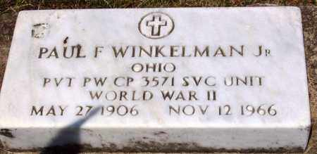 WINKELMAN, JR., PAUL F. - Stark County, Ohio | PAUL F. WINKELMAN, JR. - Ohio Gravestone Photos