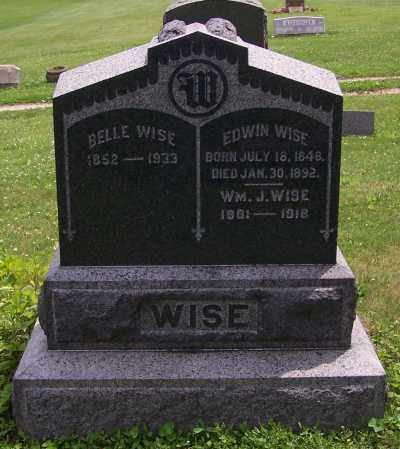 WISE, EDWIN - Stark County, Ohio | EDWIN WISE - Ohio Gravestone Photos