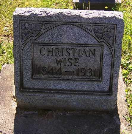 WISE, CHRISTIAN - Stark County, Ohio | CHRISTIAN WISE - Ohio Gravestone Photos