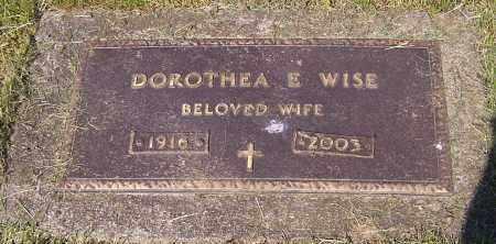 WISE, DOROTHEA E. - Stark County, Ohio | DOROTHEA E. WISE - Ohio Gravestone Photos