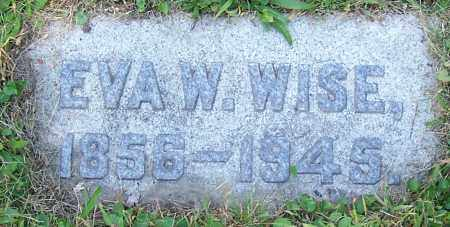 WISE, EVA W. - Stark County, Ohio | EVA W. WISE - Ohio Gravestone Photos