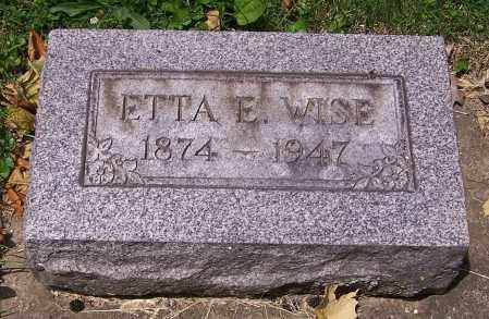 WISE, ETTA E. - Stark County, Ohio | ETTA E. WISE - Ohio Gravestone Photos
