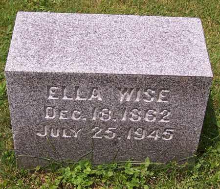 WISE, ELLA - Stark County, Ohio | ELLA WISE - Ohio Gravestone Photos