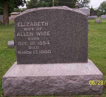 WISE, ELIZABETH - Stark County, Ohio | ELIZABETH WISE - Ohio Gravestone Photos