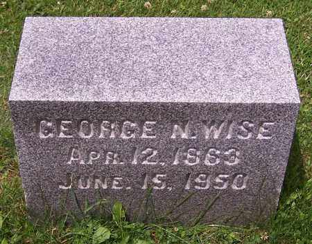WISE, GEORGE N. - Stark County, Ohio | GEORGE N. WISE - Ohio Gravestone Photos