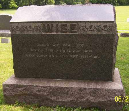 WISE, SEVILLA BABB - Stark County, Ohio | SEVILLA BABB WISE - Ohio Gravestone Photos