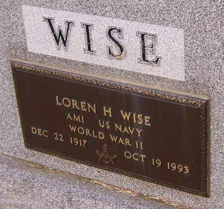 WISE, LOREN H.  (MIL) - Stark County, Ohio | LOREN H.  (MIL) WISE - Ohio Gravestone Photos